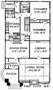 Frederick gowing 39 s design for a bungalow 1925 for 1925 bungalow floor plan